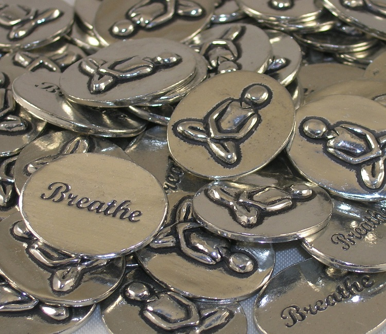 Yoga - Breathe Inspiration Coin