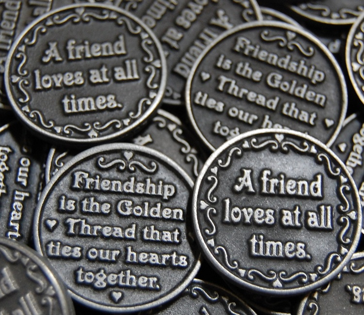 Friendship- A Friend Loves At All Times Pocket Token