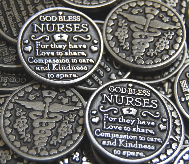 God Bless Nurses Pocket Token