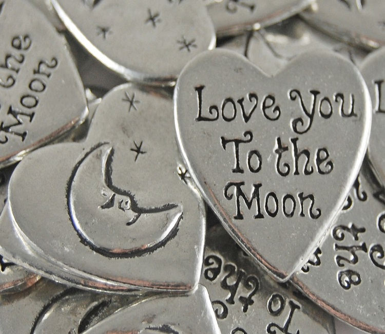 Heart Shaped - Love You to the Moon Inspiration Coin