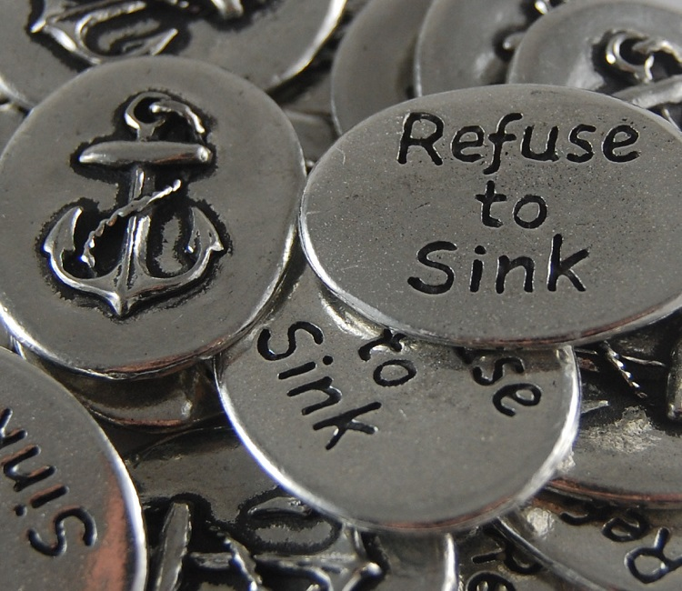 Anchor - Refuse to Sink Inspiration Coin