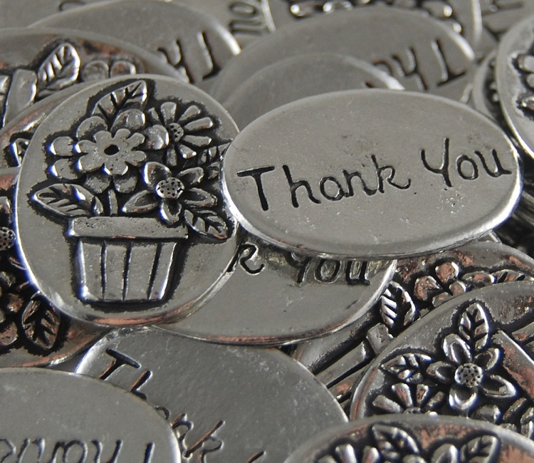 Flower Basket - Thank You Inspiration Coin