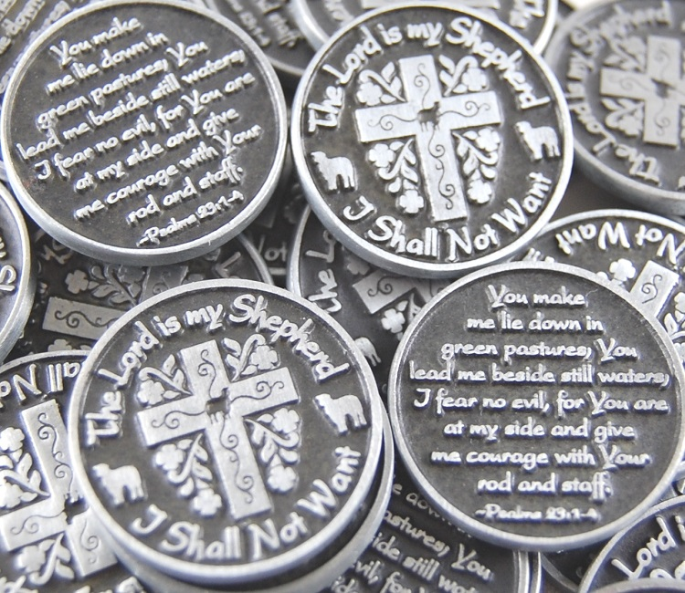 The Lord is My Shepherd Pocket Token