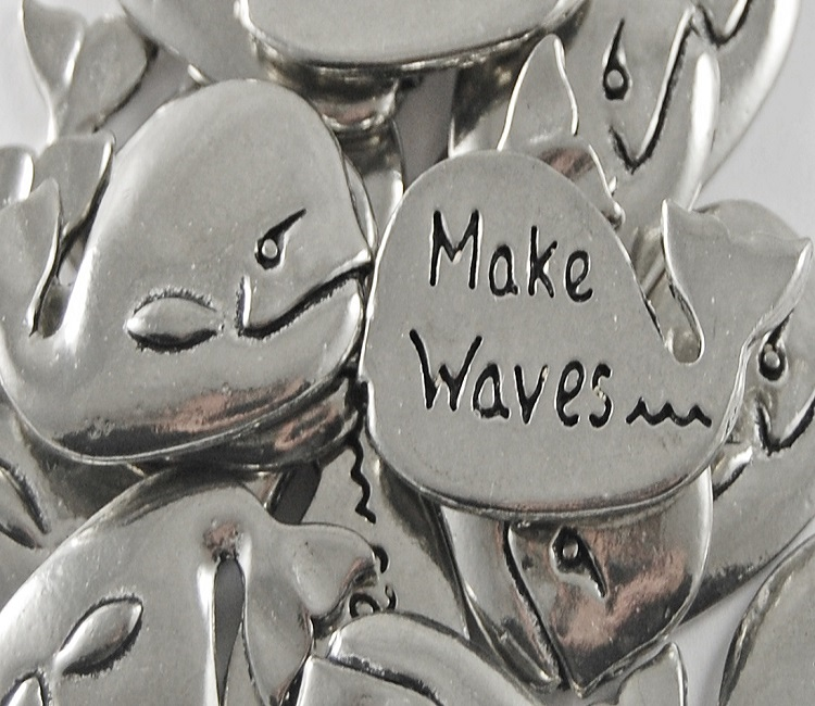 Whale - Make Waves Inspiration Coin