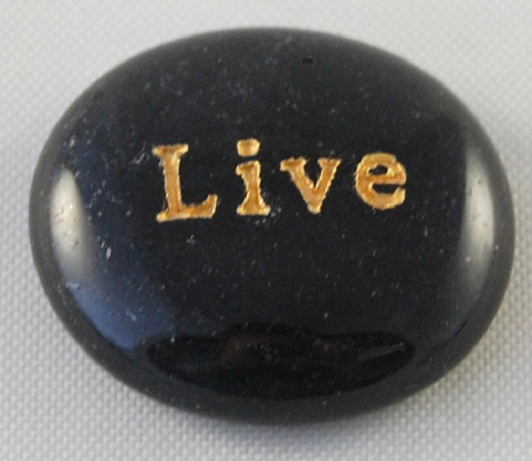 Live - Engraved Glass Spirit Stones