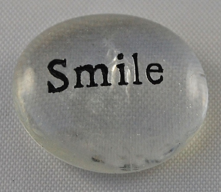 Smile - Engraved Glass Spirit Stones