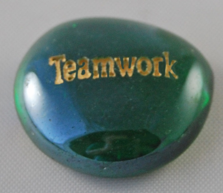 Teamwork - Engraved Glass Spirit Stones