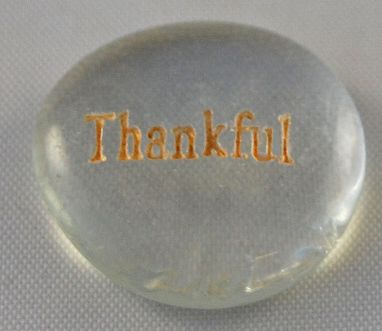 Thankful - Engraved Glass Spirit Stones