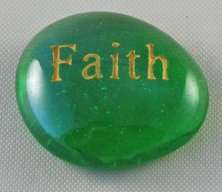 Faith - Engraved Glass Spirit Stones
