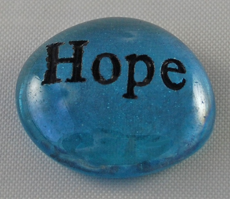 Hope - Engraved Glass Spirit Stones