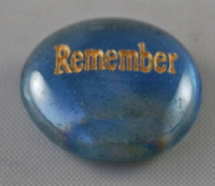 Remember - Engraved Glass Spirit Stones