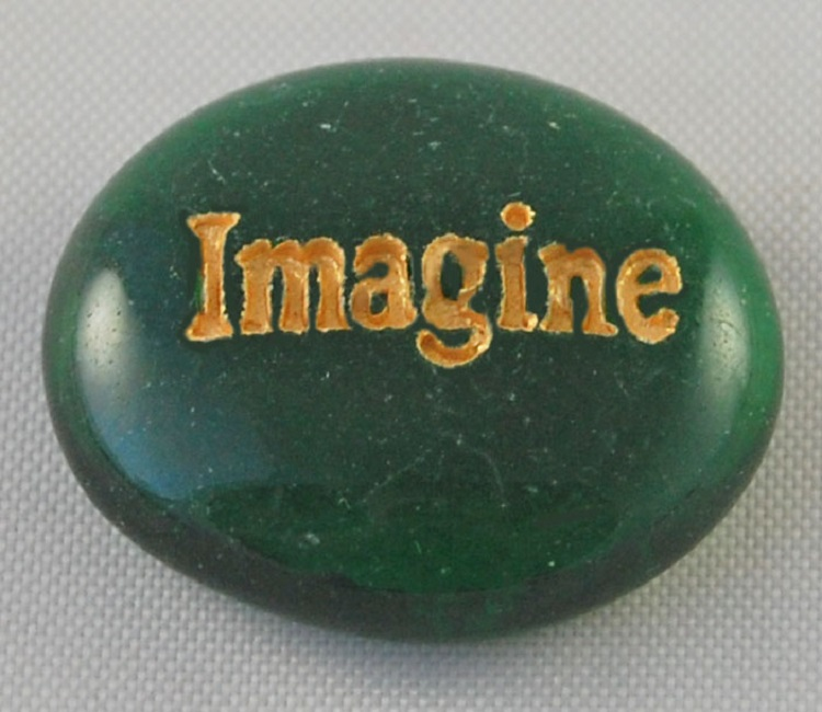 Imagine - Engraved Glass Spirit Stones