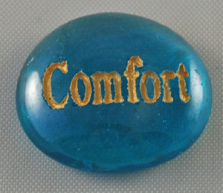 Comfort - Engraved Glass Spirit Stones