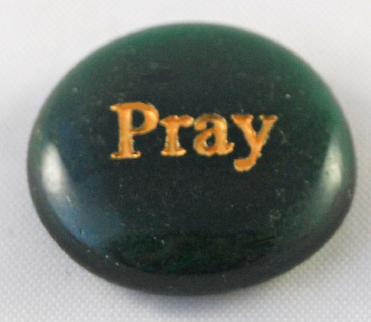 Pray - Engraved Glass Spirit Stones
