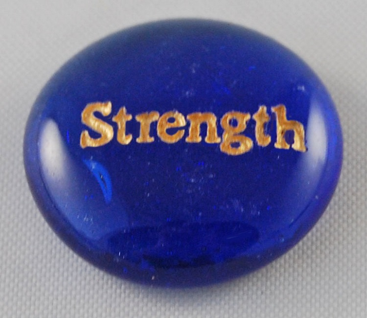 Strength - Engraved Glass Spirit Stones