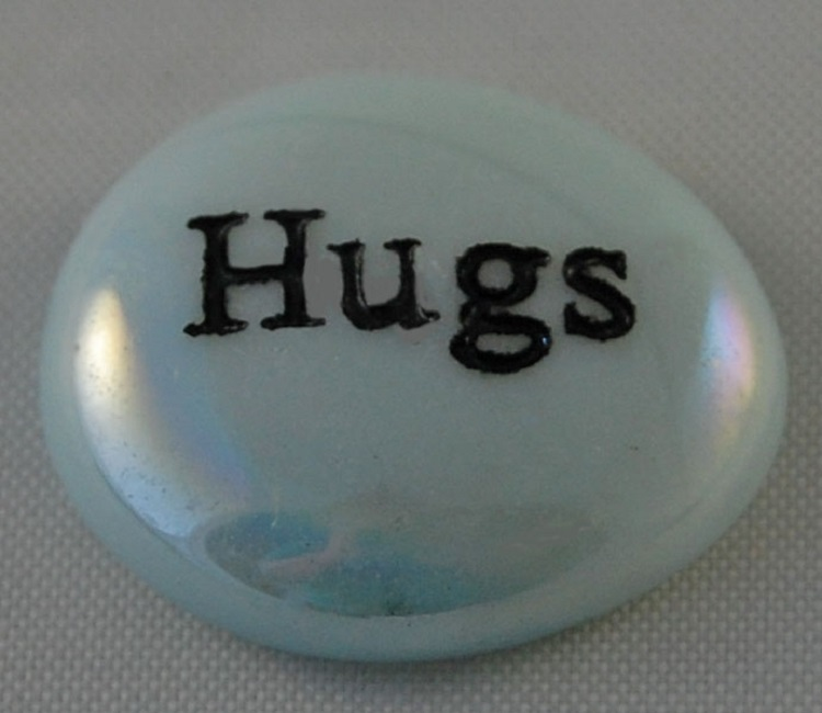Hugs - Engraved Glass Spirit Stones