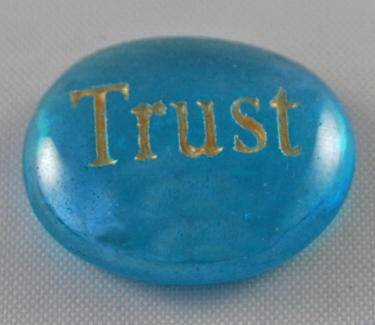 Trust - Engraved Glass Spirit Stones