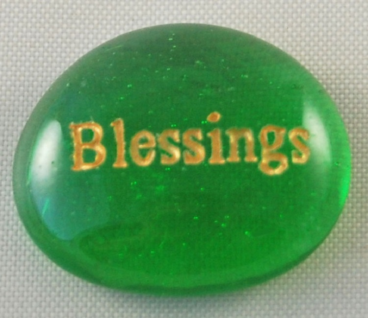 Blessings - Engraved Glass Spirit Stones