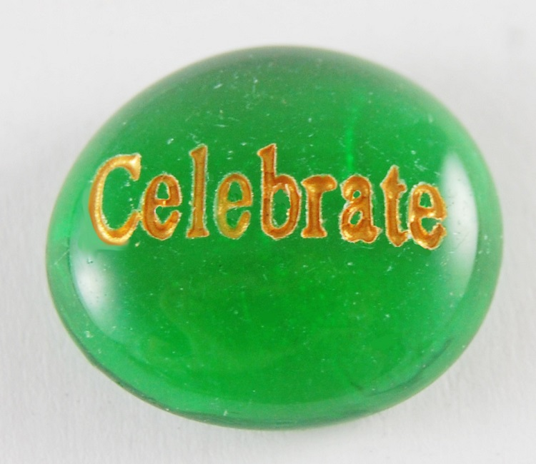 Celebrate - Engraved Glass Spirit Stones