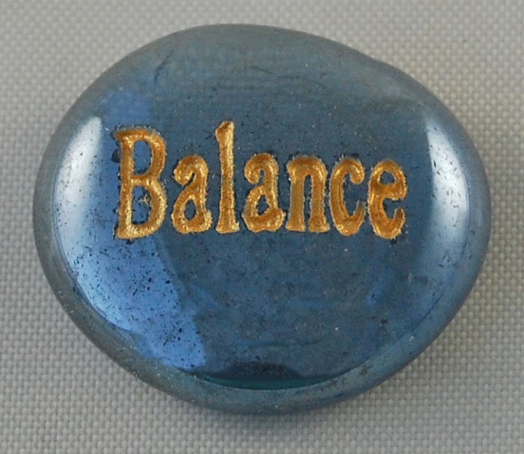 Balance - Engraved Glass Spirit Stones