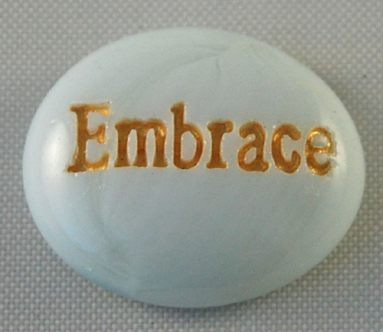 Embrace - Engraved Glass Spirit Stones