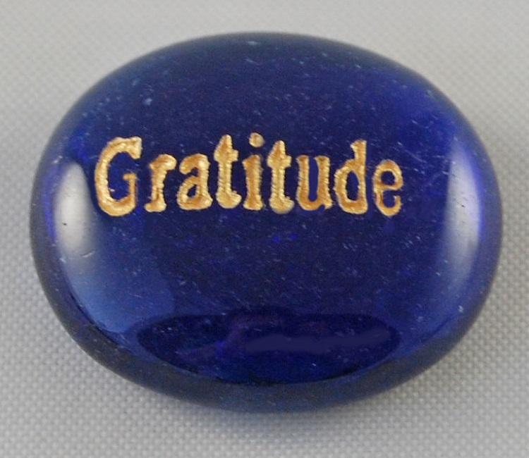 Gratitude - Engraved Glass Spirit Stones