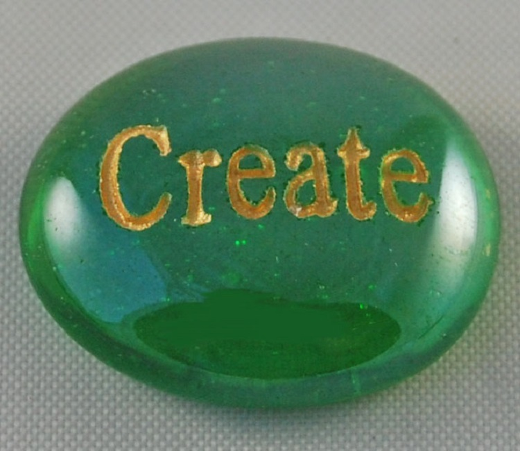 Create - Engraved Glass Spirit Stones