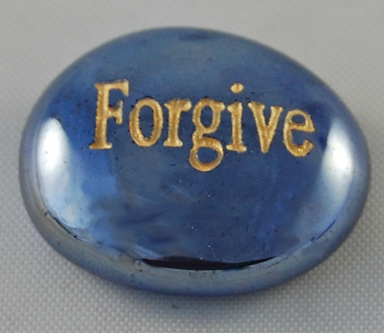 Forgive - Engraved Glass Spirit Stones