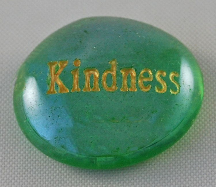 Kindness - Engraved Glass Spirit Stones