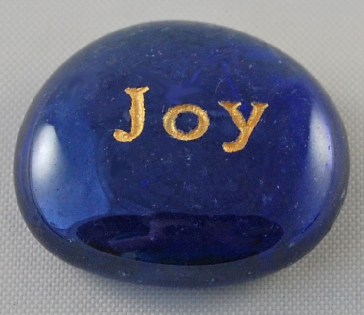 Joy - Engraved Glass Spirit Stones