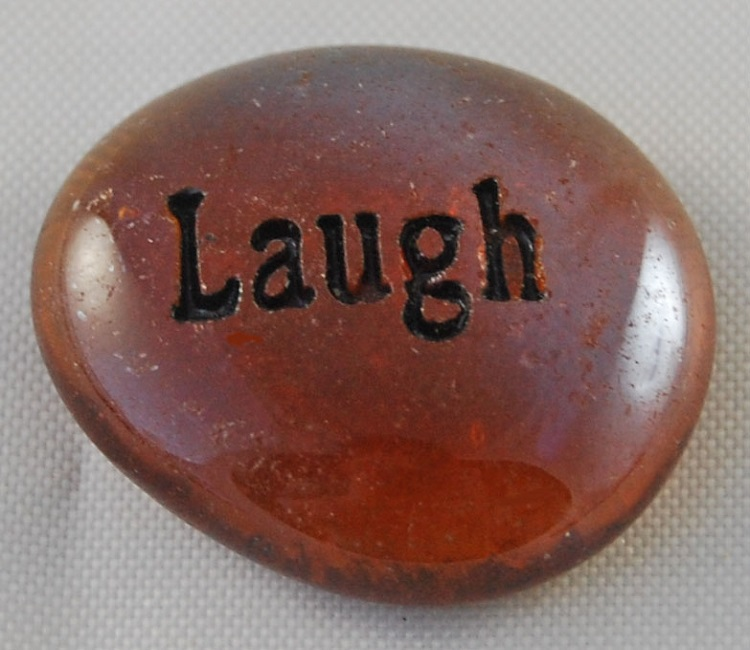 Laugh - Engraved Glass Spirit Stones