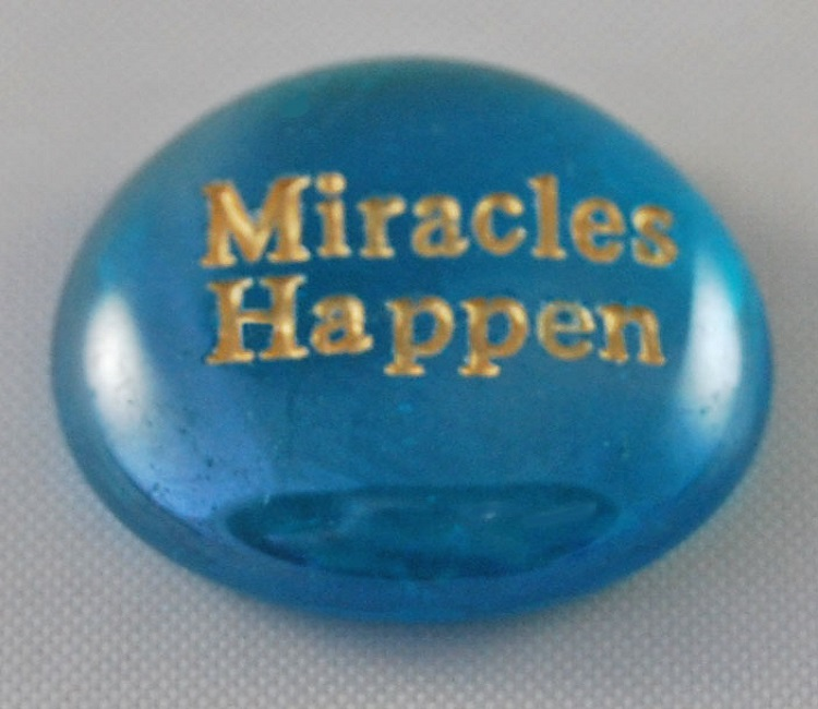 Miracles Happen - Engraved Glass Spirit Stones