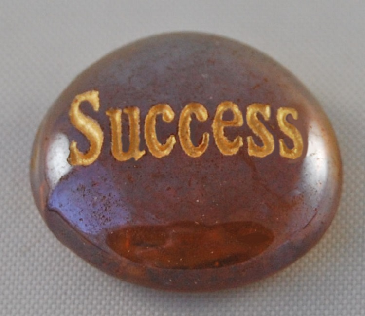 Success - Engraved Glass Spirit Stones