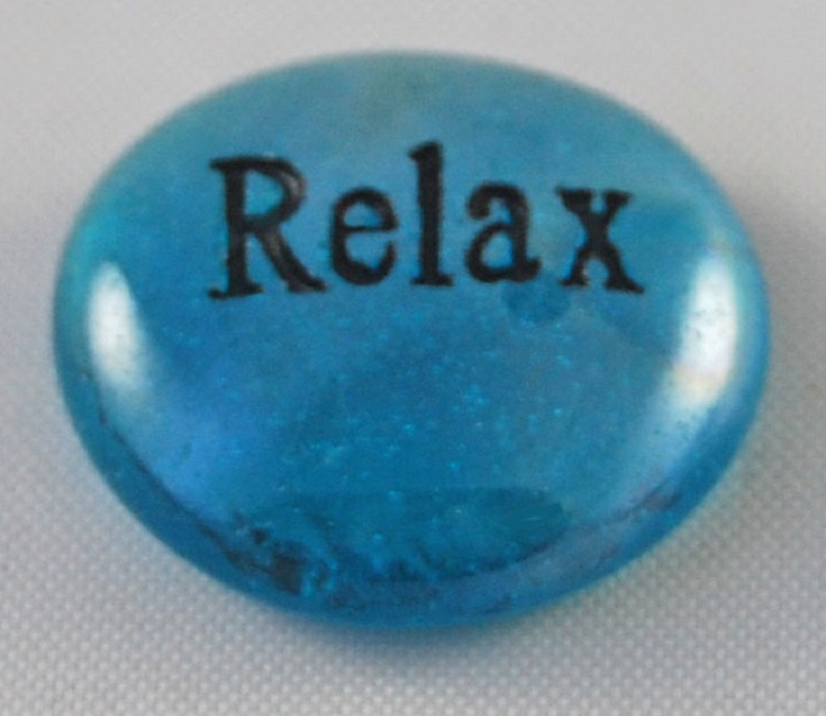 Relax - Engraved Glass Spirit Stones