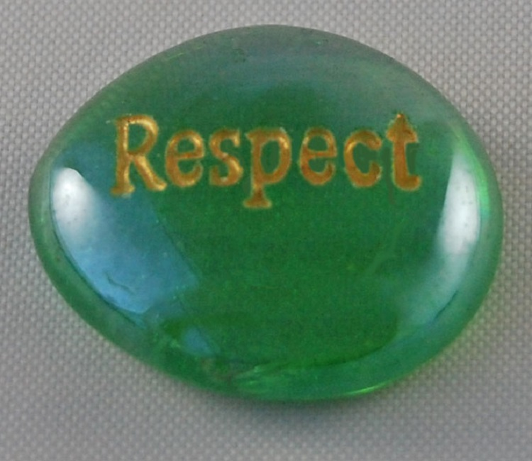 Respect - Engraved Glass Spirit Stones