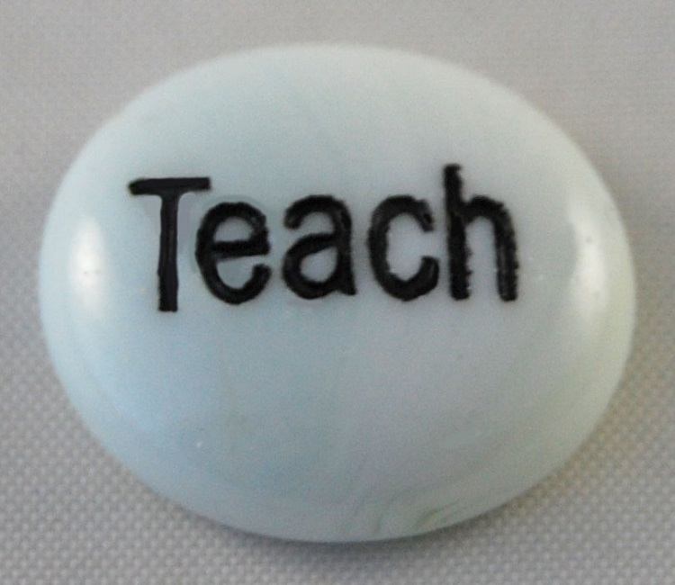 Teach - Engraved Glass Spirit Stones