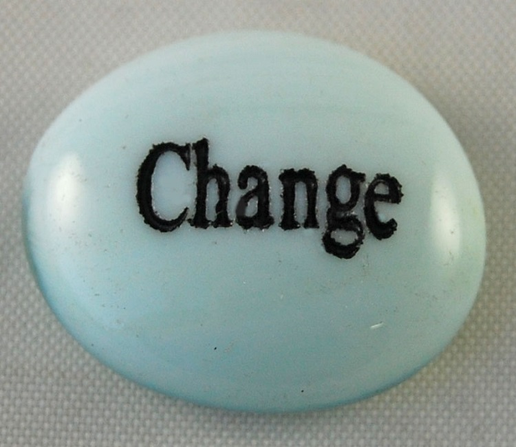 Change - Engraved Glass Spirit Stones