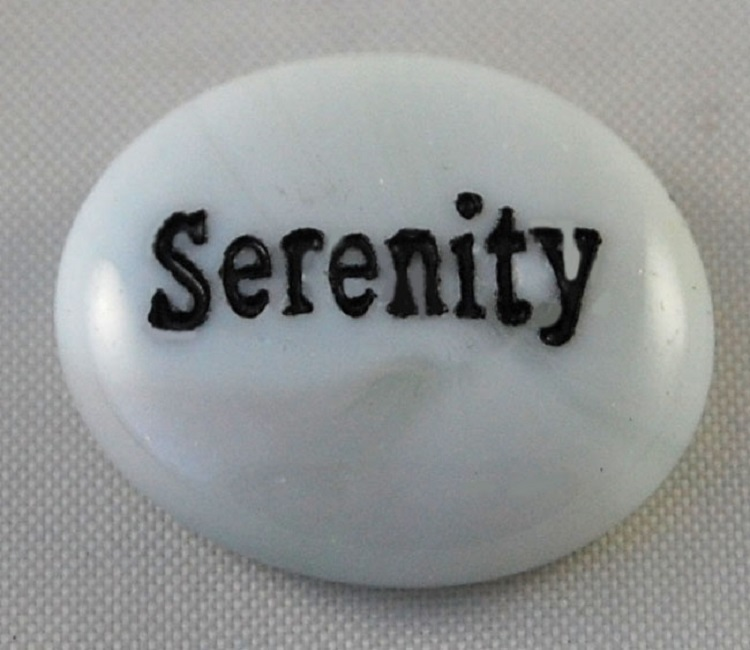 Serenity - Engraved Glass Spirit Stones
