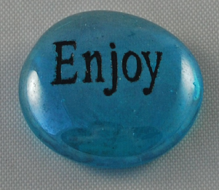 Enjoy - Engraved Glass Spirit Stones