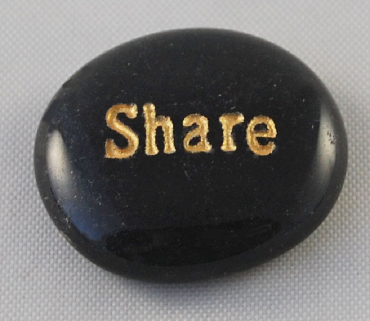 Share - Engraved Glass Spirit Stones