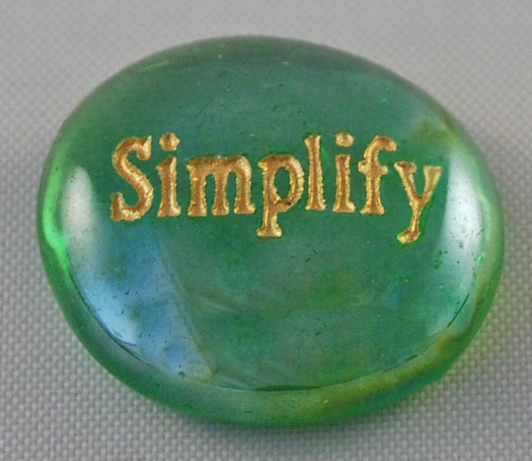 Simplify - Engraved Glass Spirit Stones