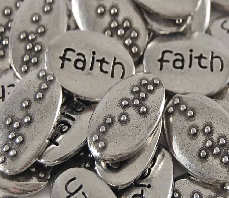 Faith Braille Word Pebble