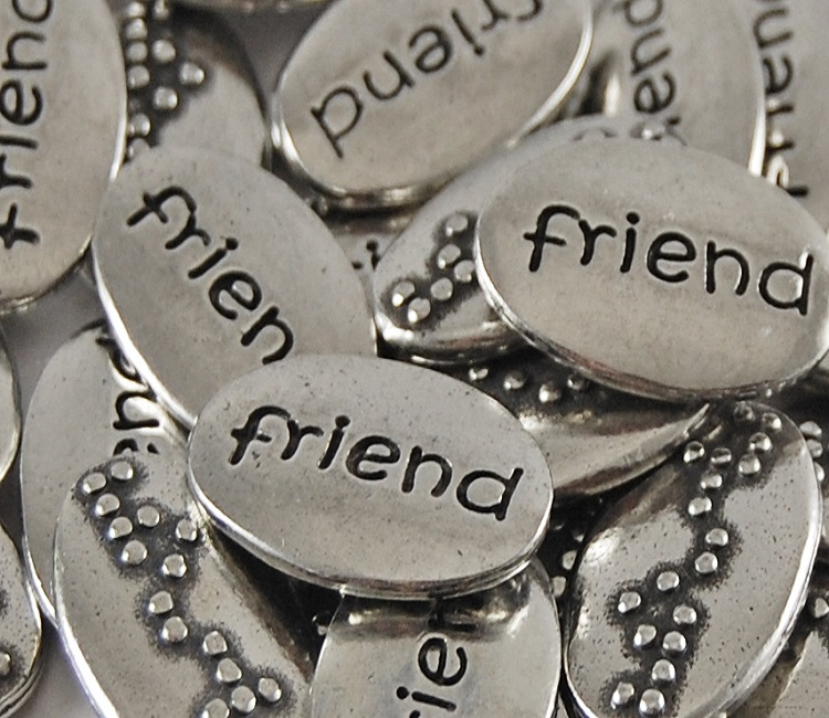 Friend Braille Word Pebble