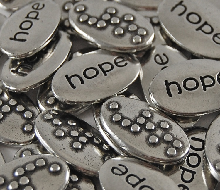 Hope Braille Word Pebble