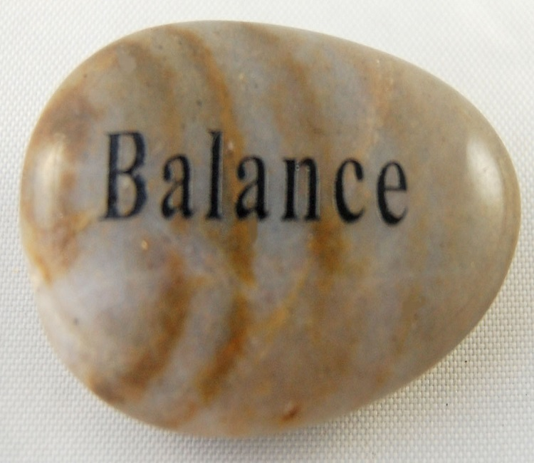 Balance - Engraved River Rock