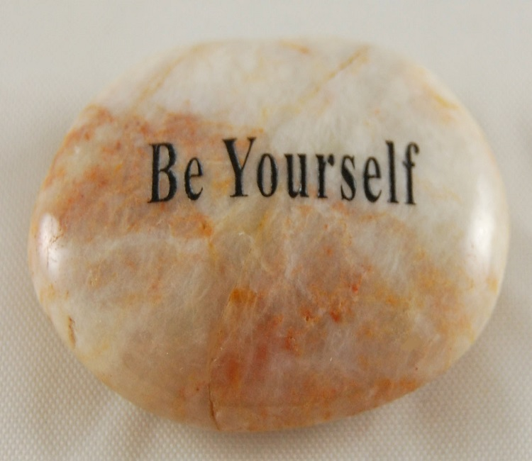 Be Yourself - Engraved River Rock