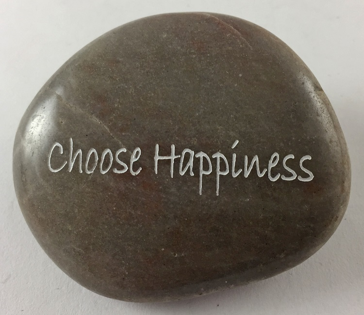 Choose Happiness - Engraved River Rock