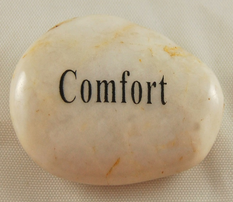 Comfort - Engraved River Rock