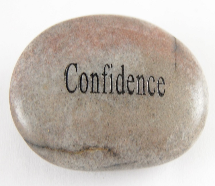 Confidence - Engraved River Rock