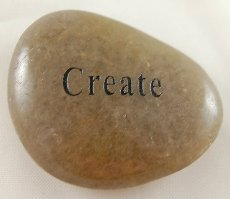 Create - Engraved River Rock
